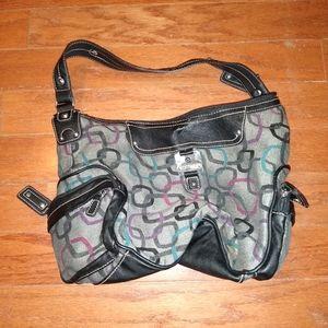 Gray Rosetti shoulder purse